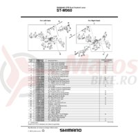 Capac maneta Shimano ST-M960 dreapta & suruburi