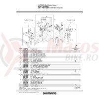 Capac maneta Shimano Ultegra ST-6700 stanga & surub (plate B)