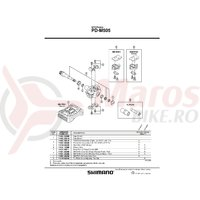 Capac pedale Shimano PD-M505 Argintiu