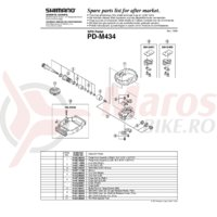 Capac Shimano PD-M434/PD-M424 dreapta