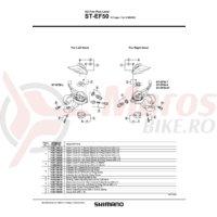 Capac superior Shimano ST-EF50 stanga negru & suruburi M3 x 5mm
