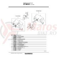 Capac superior Shimano ST-M535 dreapta & suruburi