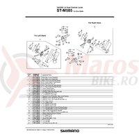 Capac superior Shimano ST-M585 dreapta & suruburi