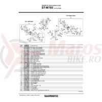 Capac superior Shimano ST-M765 dreapta & suruburi