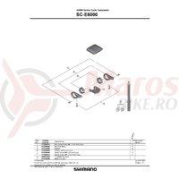 Capace Shimano Steps SC-E6000 2 buc