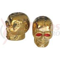 Capac ventil design craniu auriu