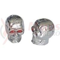 Capace ventil design craniu cromat