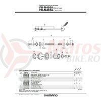 Capat etans Shimano FH-M495A stanga