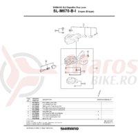 Capat maneta Shimano SL-M670-B-I stanga & suruburi