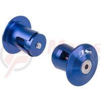 Capete ghidon M-wave 17.5-19.5 mm aluminiu albastre anodizat