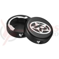 Capete ghidon Reverse lock-on aluminiu negre
