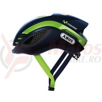 Casca Abus Game Changer MovistarTeam bleumarin/verde marime M
