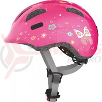 Casca bicicleta Abus Smiley 2.0 pink butterfly