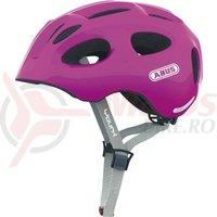 Casca bicicleta Abus Youn-I sparkling pink