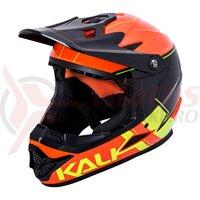 Casca bicicleta Kali Zoka Switchback Orange Fluo Yellow Black