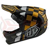 Casca Bicicleta Troy Lee Designs D3 Fiberlite Raceshop Black/Gold 2020