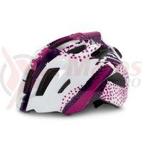 Casca ciclism Cube Helmet Fink alb/violet