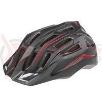 Casca ciclism Mighty Hawk negru/rosu 52-58 cm