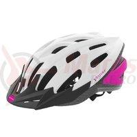 Casca ciclism Ventura Semi In-Mold alb/roz 54-58 cm