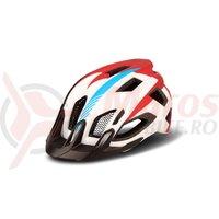Casca Cube Helmet Quest Teamline alb/albastru/rosu