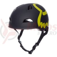 Casca Fox Flight Eyecon Hardshell helmet blk/ylw
