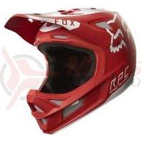 Casca Fox MTB-Helmet Rampage Pro Carbon Moth helmet red/white