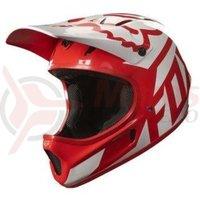 Casca Fox MTB-Helmet Rampage Race Helmet red/white