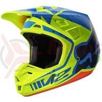 Casca Fox MX-Helmet V2 Nirv Helmet Ece yellow/blue