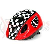 Casca Headgy Race rosu/alb/negru