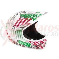 Casca IXS X-Phobos Flag alb/rosu/verde