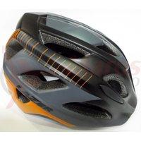 Casca Lazer Beam ce black orange stripes