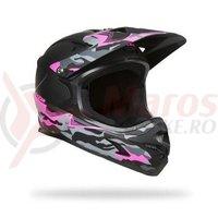 Casca Lazer Phoenix+ matte black camo pink