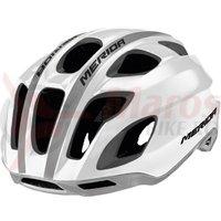 Casca Merida Team Race Glossy white/grey