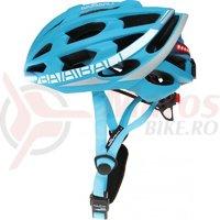 Casca protectie Smart Babaali Bluetooth si Wireless albastru/alb