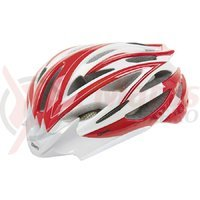 Casca Road Mighty rosu/alb/carbon L 59-62 cm