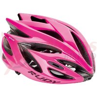 Casca Rudy Project Rush roz fluo S 51-55 cm