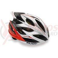 Casca Rudy Project Windmax alb/rosu fluo 54-58 cm
