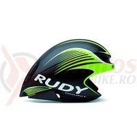 Casca Rudy Project Wing57 negru/lime fluo 54-58 cm+ lentile smoke