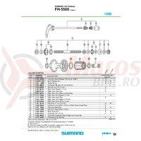 Caseta Shimano FH-5500 complet & garnitura pentru praf dreapta
