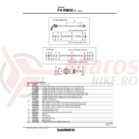 Caseta Shimano FH-RM30-7S cu garnitura dreapta