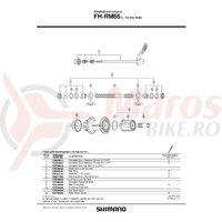 Caseta Shimano FH-RM66 & distantiere/suruburi