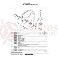 Caseta Shimano WH-9000 Complet