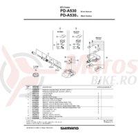 Catadioptrii pedale Shimano SM-PD61