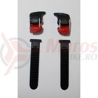 Catarama + Chinga pantofi ciclicm Shimano pentru SH-M085 Negru/Rosu