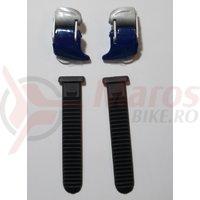 Catarama + chinga pantofi ciclicm Shimano pentru SH-M182 Argintiu/Albastru