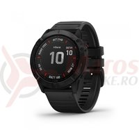 Ceas Garmin Fenix 6 Pro black, black band