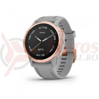 Ceas Garmin Fenix 6S Sapphire rose gold powder gray band