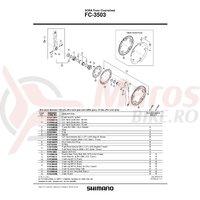 Chain guard Shimano FC-3503 & suruburi