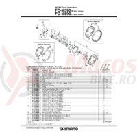 Chain guard Shimano FC-M590 48T & suruburi de fixare