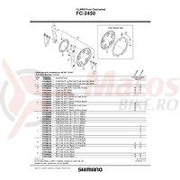 Chainguard Shimano FC-2450 46T negru & suruburi
